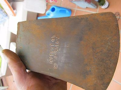 Old Tools AXE Head Blade only HYTEST 4 and 1/2 inch P/U W Footscray