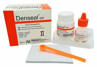 Denseal Diy PERMANENT White Dental Teeth Tooth Filling Cement Kit
