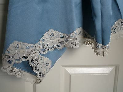 Vintage Nightdress – Long – Petrol- Blue – Lace Detail - Size 36 – Never Worn