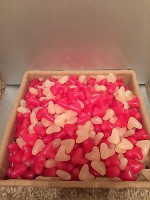 1KG Jelly Beans Pink And White Love Hearts Halal Candy Wedding Party Favour