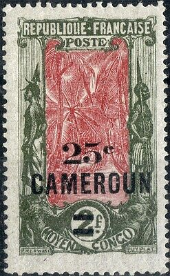Cameroon.  1924  25c surcharge on 2f.   SG64.  Mint.