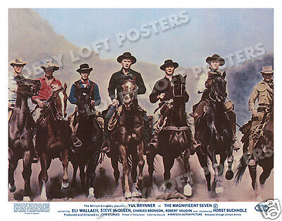 The Magnificent Seven Lobby Scene Card # 8 Poster 1960 Yul Brynner