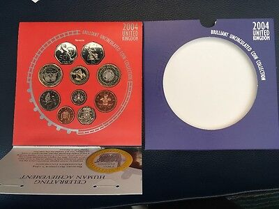 Royal Mint 2004 UK Brilliant Uncirculated Coin Collection 10 Coin Set #