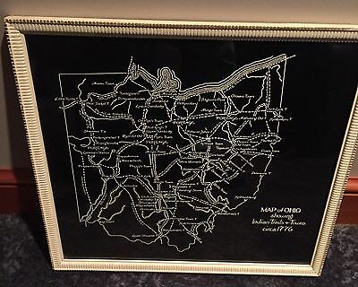 Map of Ohio showing Indian Trails and Towns Circa 1776 - Great Teaching Map