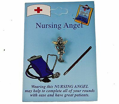 Nurse Angel Hat Lapel Pin
