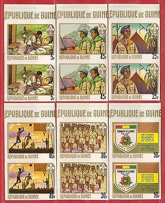 Guinea,  Scouts Imperf. pairs set. MNH. 1969