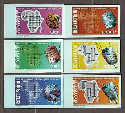 Guinea,  Satellites, Telecommunication day, Space  Imperf.   MNH.