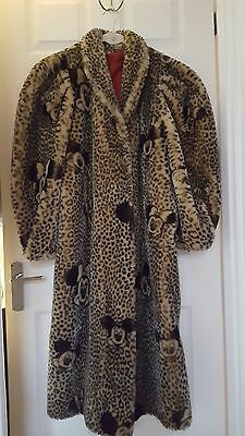 Vintage 80's  Minnie & Mickey Mouse Faux Fur Coat Collectors item
