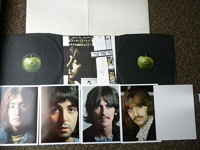 BEATLES white album D/LP 1968 TOP OPENING MONO 1ST PRESS + INSERTS & SPACER EX