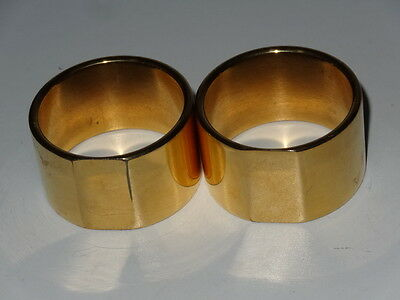 Pair Of Vintage Gold Plated Napkin Rings