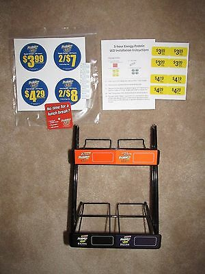 5 hour Energy 2-Tier 2 x 2 Protein Slanted Rack With Stickers
