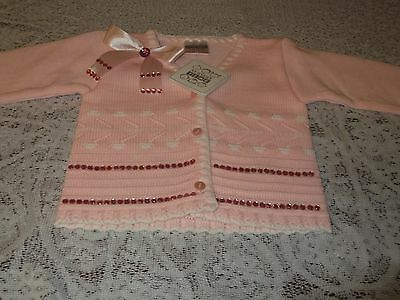 Baby Girls Romany Bling Warm Long Sleeve Cardigan 6-12 Months