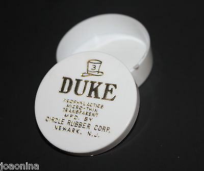 Vintage DUKE PROPHYLACTICS MICRO THIN CONDOMS Advertising Tin gold label empty