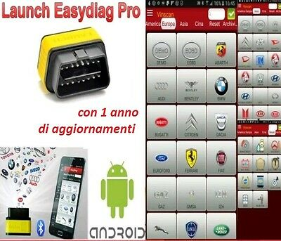 Launch X431 PRO Easydiag 2.0 Bluetooth Scanner Code Reader SRS ABS per Android