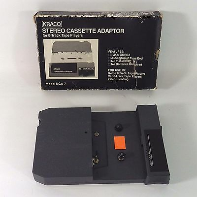 Vintage Kraco Stereo Cassette Adapter for 8 Track Players Model KCA-7