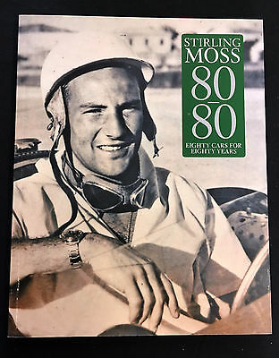 Stirling Moss SIGNED 80 Cars for 80 Years, Lord March, VGC with photo proof