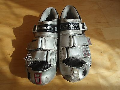 Used Shimano SH-R131S Carbon Road SPD-SL Cycling Shoes Size 44 (UK 9.5)