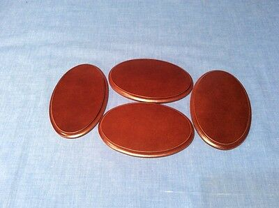 Four Oval Wooden Display Bases