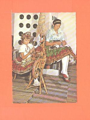 T Postcard Woman Beauty And Girl At Work In Traditional Costume Nepviselet