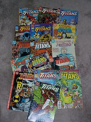Titans (DC) Mixed lot of 16 comics inc. George Perez art