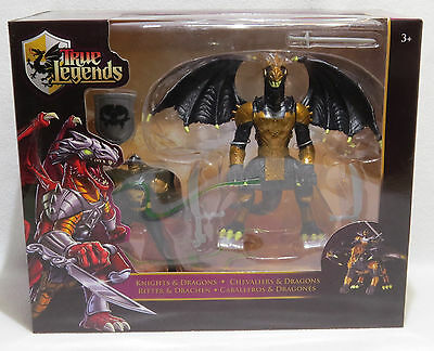 True Legends Knight & Dragon Action Figure Set - New Old Stock