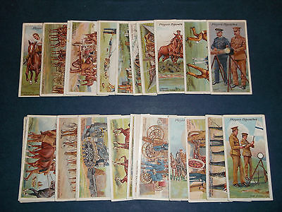 Full Set of 25 Players Army Life ( Good - Very Good ) 1910
