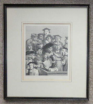 """Oxford University """"The Lecture"""" framed engraving by William Hogarth"""