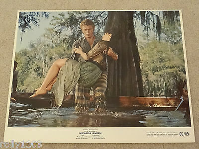 "Nevada Smith Steve Mcqueen Genuine Usa Single Colour 10""x8"" Lobby Card No Holes"