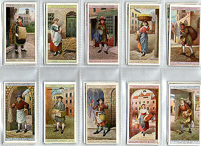 cigarette cards cries of london 2nd series 1914 full set