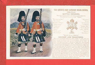 THE QUEEN'S OWN CAMERON HIGHLANDERS Battle Honours pb: G & P History & Tradition
