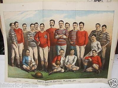 England Footballers 1881 Boys Own Paper