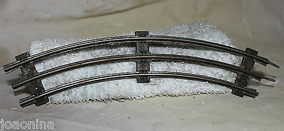 Vintage 1950s MARX CURVED TRACK 11 SECTIONS TRAIN O SCALE RAILROAD (Black ties