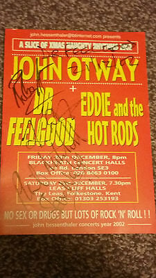 Dr Feelgood - Rare Autographed 8x6 Flyer - From 2002