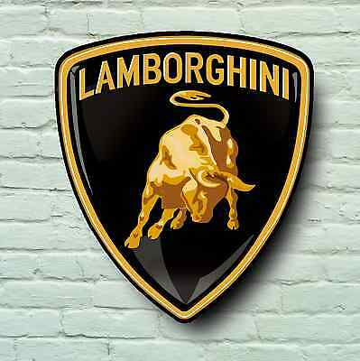 Lamborghini Logo 2Ft Large Garage Sign Wall Plaque Classic Aventador Supercar
