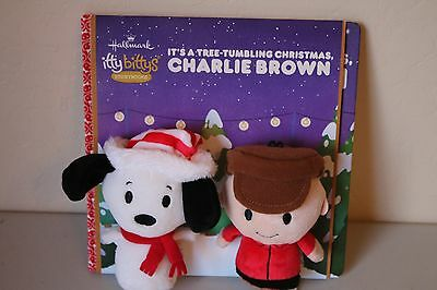 Hallmark itty bittys Storybook Snoopy Charlie Brown Plush & Book Set Peanuts NEW