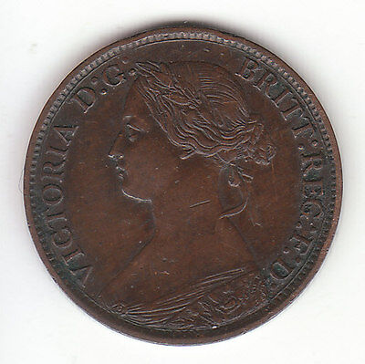 1861 Great Britain Queen Victoria 1 One Farthing.  High Grade.