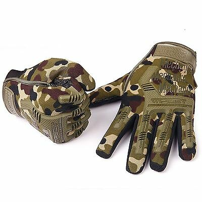 All Purpose Camo Camouflage Full Finger Motocycle Bike Paintball Utility Gloves