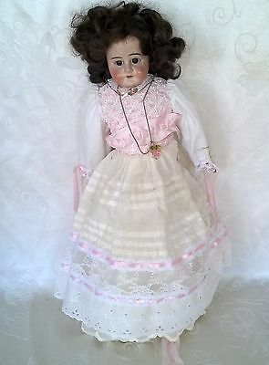 "Antique Bisque Head Leather Body Doll Germany 22"" Last Reduction $34.99"