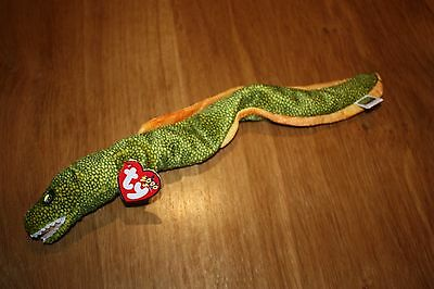 Genuine ty Beanie Baby - Morrie.  Morrie Eel. Great value collectable soft toy