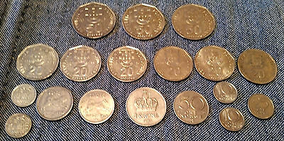 [143] Mixed lot of world coins and one bank note