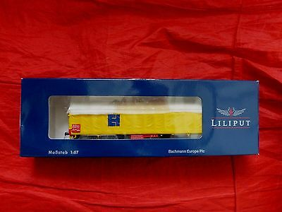 LILIPUT HO GAUGE L235772 EH TRANSPORT WAGON WITH YELLOW AWNING - boxed