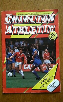 CHARLTON ATHLETIC v WALSALL FA CUP 1986/87
