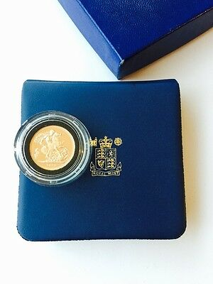 1979 Gold Proof Full Sovereign With Blue Royal Mint Box