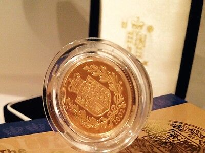 2002 Gold Proof Full Sovereign Boxed FDC (No COA)