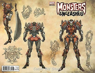 Monsters Unleashed #3 (Of 5) (2017) 1St Printing Yu Monster Variant Cover