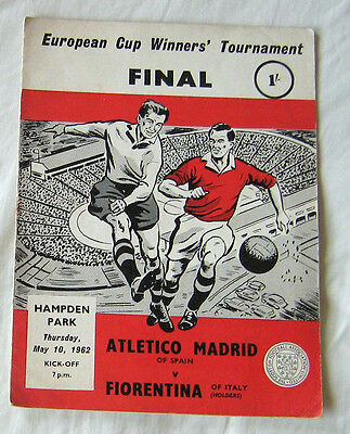 1962 Cup Winners Cup Final Athletico Madrid v Fiorentina