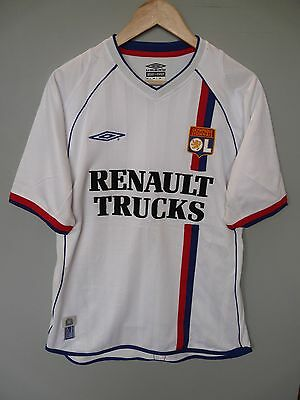 Vintage Olympique Lyonnais Lyon Umbro 2003 Home Football Shirt Trikot Sz Medium