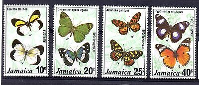 Jamaica (9554)  1977 Butterflies ( 2nd series) set Lightly Mounted mint Sg429-32