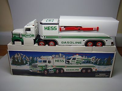 1995 Hess Truck-Toy Truck And Helicopter-Mint In Box---Look------
