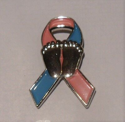 Infant and Miscarriage Loss Awareness ribbon enamel badge / brooch. Charity SIDS